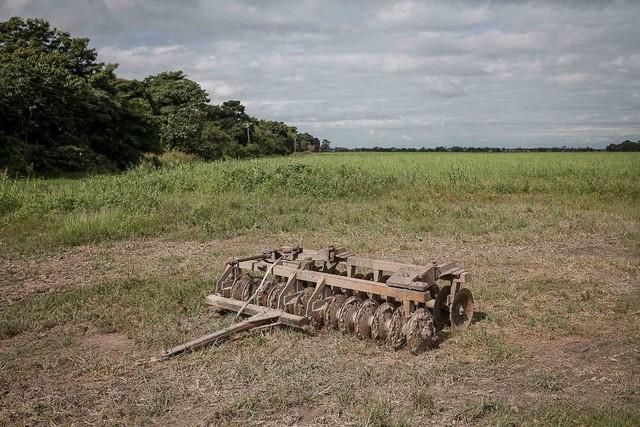 Nông cụ hỏng hóc bị bỏ lại trên cánh đồng ở gần Turén. Rất khó để tìm được linh kiện thay thế.