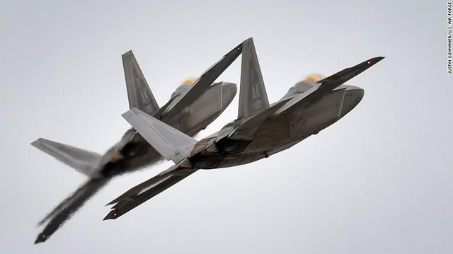 Tiêm kích tàng hình F-22 của Không quân Mỹ ở Hàn Quốc.