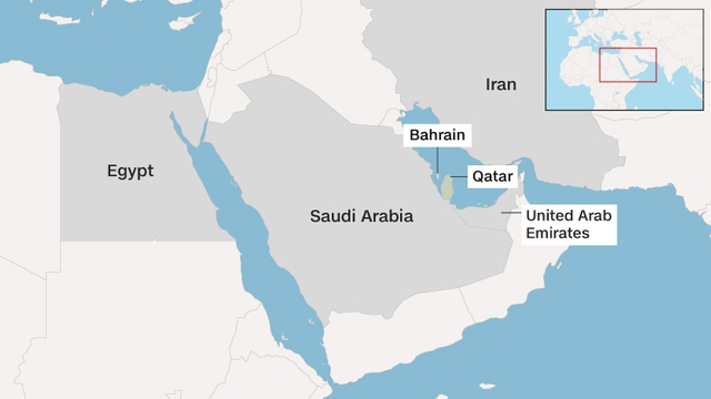 Bốn nước là Ai Cập, Ả rập Xê út, Các tiểu vương quốc Ả rập Thống nhất và Bahrain đã cắt đứt quan hệ ngoại giao với Qatar.