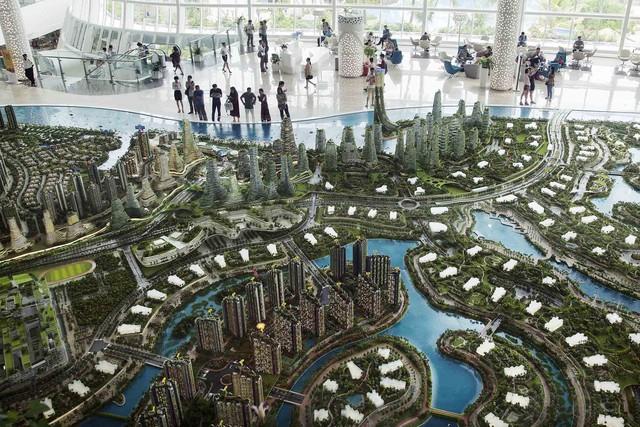 Mô hình phối cảnh của dự án Thành phố rừng. Nguồn: Bloomberg.