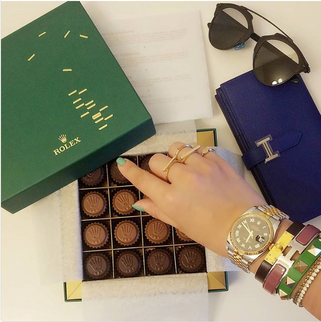 Món sô cô la Rolex...