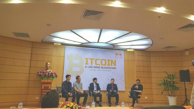 Các diễn giả tại tọa đàm Bitcoin và làn sóng Blockchain