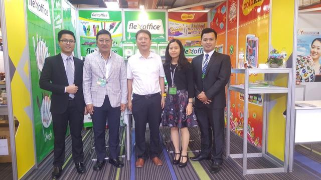 Gian hàng của Thiên Long tại Hội chợ Quốc tế ASEAN - Ấn Độ diễn ra từ 2/8 - 5/8