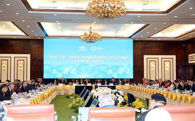 Toàn cảnh Hội nghị liên Bộ trưởng Ngoại giao - Kinh tế lần thứ 29 của Diễn đàn Hợp tác kinh tế châu Á – Thái Bình Dương (APEC). Ảnh: VGP