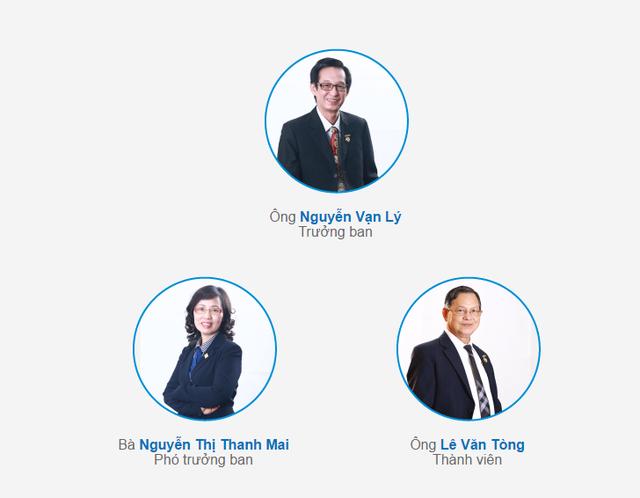 Ban kiểm soát hiện tại của Sacombank có 3 thành viên.