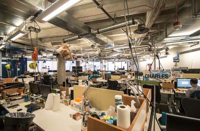 Một văn phòng làm việc của Zappos.