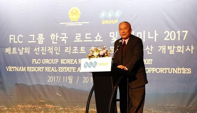 Đại sứ Việt Nam tại Hàn Quốc Nguyễn Vũ Tú phát biểu tại sự kiện.