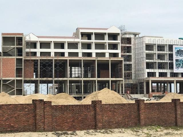 Dự án Khu đô thị Nam Hội An đang trong giai đoạn xây dựng.