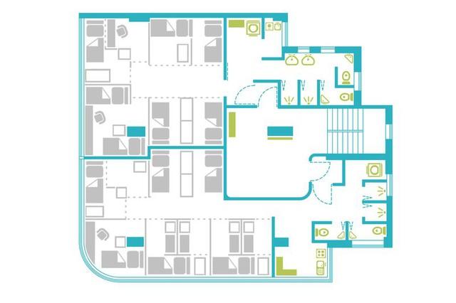 Kiến trúc tầng trong dự án ở chung Bibliotheque của Synergy Biz.