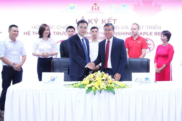 Trong lễ kí biên bản hợp tác chiến lược, Sunshine Group và CitySmart đã gửi đến nhau những món quà ý nghĩa, thể hiện niềm tin vào thắng lợi chung trong việc mang đến cho trẻ em Việt Nam nền giáo dục tiên tiến.