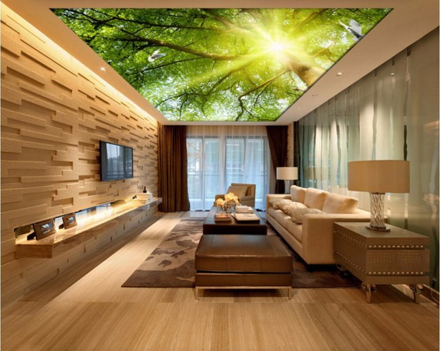 Trần 3D tạo không gian nội thất vô cùng khác lạ và độc đáo. Đây chính là sự lựa chọn hoàn hảo, nhất là ở những căn hộ chung cư.