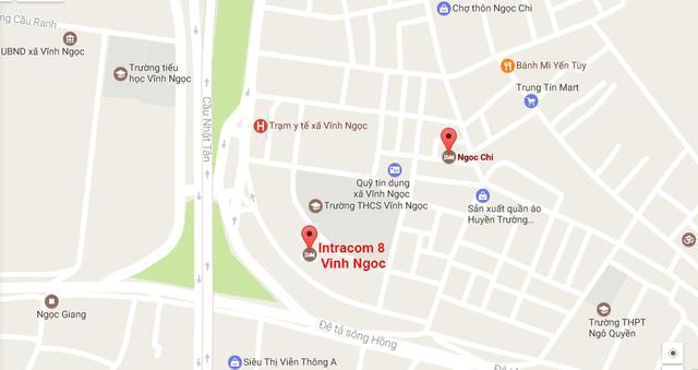 Chung cư Intracom Riverside 8 Vĩnh Ngọc - Nhật Tân tọa lạc ngay mặt đường Võ Nguyên Giáp.