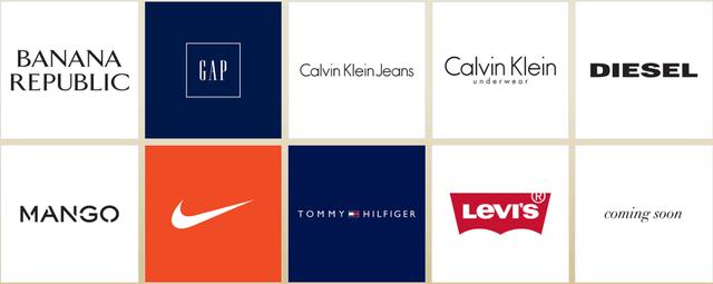 Các thương hiệu do Công ty Thời trang và Mỹ phẩm Châu Âu (ACFC) phân phối.