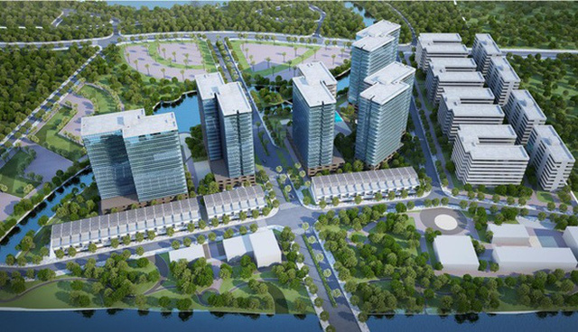 Phối cảnh khu đô thị Mizuki Park quy mô 26 ha thiết kế theo mô hình thành phố tiện ích mang phong cách nghỉ dưỡng của chủ đầu tư Nam Long.