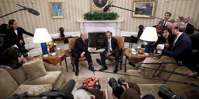 Cuộc gặp giữa Tổng thống Obama và ông Donald Trump tại Nhà Trắng hồi tháng 11 năm ngoái.