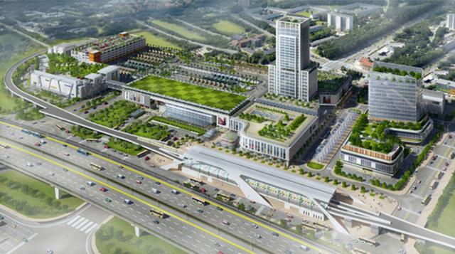 Phối cảnh thiết kế dự án Bến xe Miền Đông mới