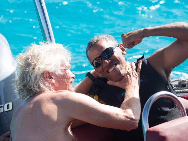 Ông Brason cho biết được tiếp đón vợ chồng ông Obama tới hòn đảo là một vinh dự lớn.