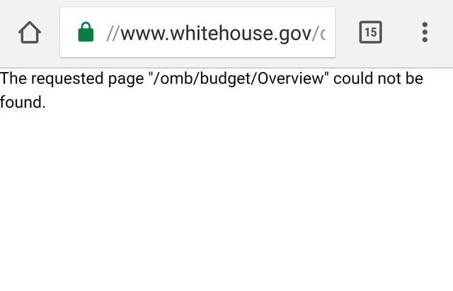 Tìm kiếm về ngân sách cũng không thể thực hiện.