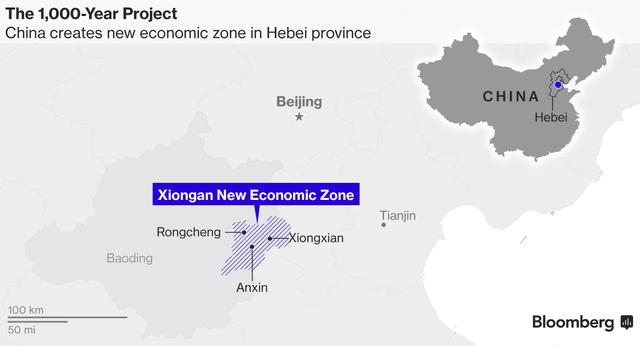 Khu vực được chọn để xây dựng đặc khu kinh tế mới.