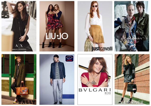 Một số thương hiệu do Công ty thời trang và mỹ phẩm Duy Anh (DAFC) phân phối