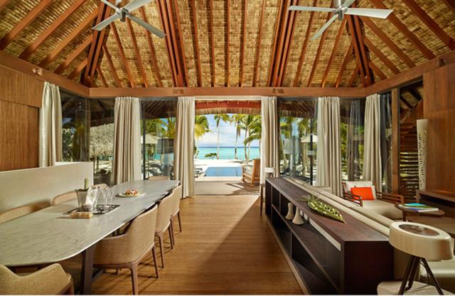 Khu nghỉ dưỡng trên đảo Tetiaroa.