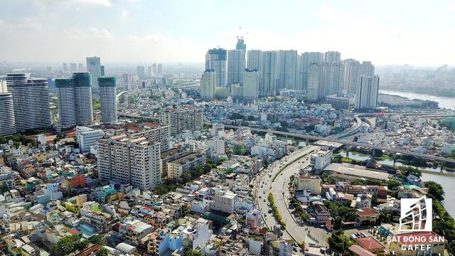 Cạnh đường Nguyễn Hữu Cảnh khoảng 500 mét là cụm dự án tọa lạc trên đường Ngô Tất Tố