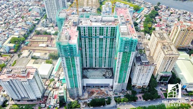 Dự án The Gold View của TNR Holdings đang thi công các hạng mục cuối cùng trước khi giao cho khách hàng dọn về sinh sống