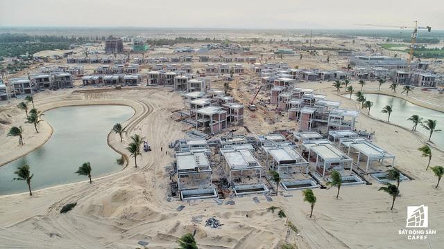 Dự án tổ hợp nghỉ dưỡng của Vingroup đang được thi công rầm rồ, đánh thức một vùng đất khô cằn Nam Hội An