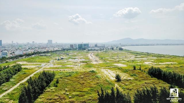 Toàn cảnh phần dự án The Sunrise Bay nhìn từ hướng cầu Thuận Phước