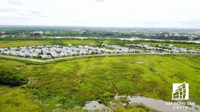 Dự án khu thành thị Đại Phước, Đồng Nai vẫn còn 1 tổng diện tích đất khá lớn chưa được đầu tư xây dựng.