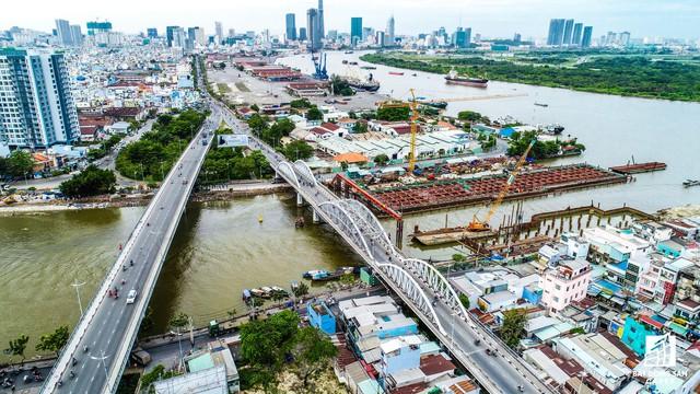 Vị trí kết nối quận 5 với khu đô thị Phú Mỹ Hưng, quận 7.