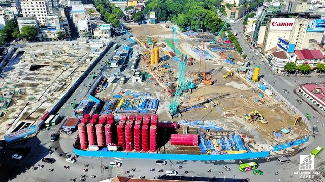Công trường Quách Thị Trang trước chợ Bến Thành đã nhường chỗ cho đại công trường nhà ga trung tâm
