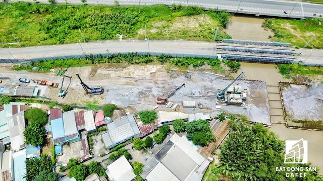 Cụm khu đô thị Palm City đang thi công hạ tầng.