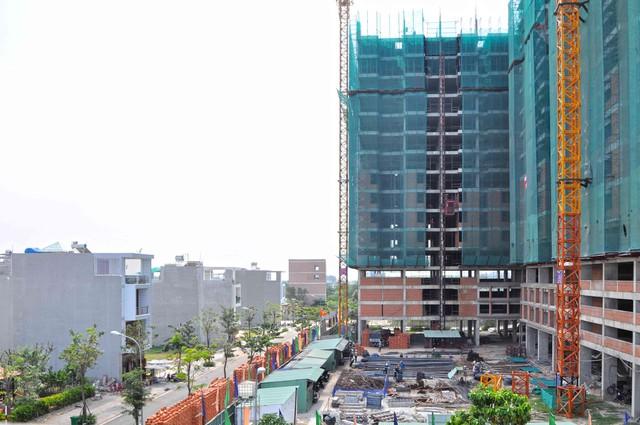 Hình ảnh dự án đang được thi công đến tầng thứ 19.