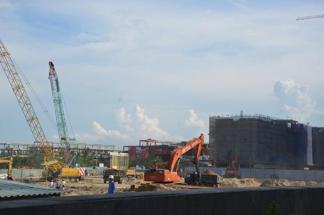 Dự án Cocobay Đà Nẵng đang được đang được thi công có điểm nhấn là tòa tháp đôi cao nhất khu vực miền Trung.