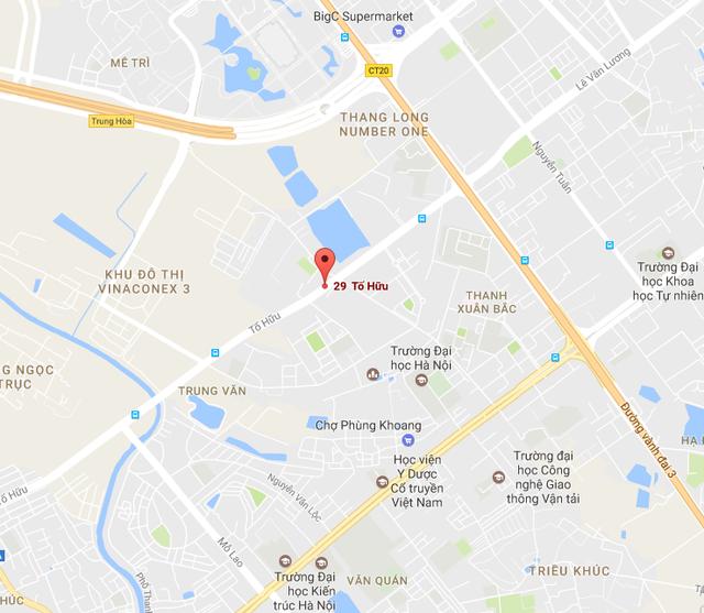 Chung cư MHD Trung Văn tọa lạc ngay mặt đường Tố Hữu.