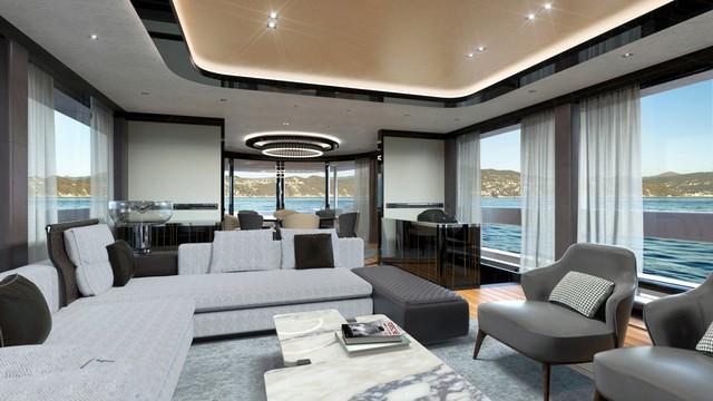 Nội thất sang trọng, thiết kế tinh tế bên trong siêu du thuyền giúp người dùng có những trải nghiệm hoàn hảo nhất.