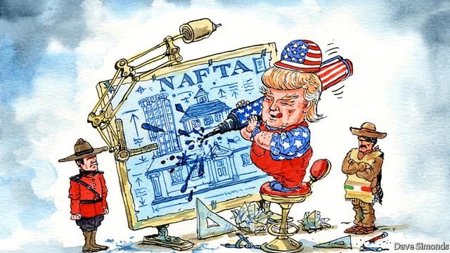 Liệu chính quyền Tổng thống Donald Trump có thực sự định rút khỏi quan hệ hợp tác quốc tế hay chỉ đơn thuần muốn tái đàm phán các điều khoản có lợi hơn cho nước Mỹ? (Ảnh: The Economist)