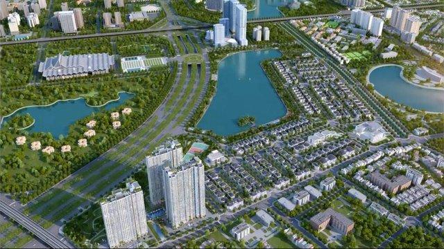 Phối cảnh tổng thể khu đô thị Vinhomes Green Bay Mễ Trì