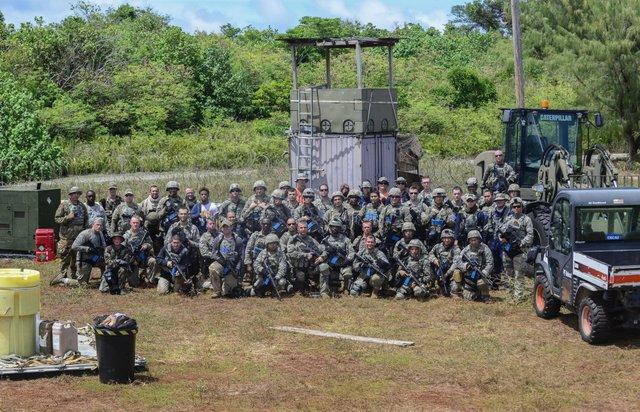 Ngày nay, đảo Guam trở thành căn cứ quân sự quan trọng của Mỹ với 6.000 quân đồn trú. Quân đội Mỹ cũng kiểm soát khoảng 1/3 diện tích hòn đảo và xây dựng trên đó nhiều cơ sở quân sự, bao gồm sân bay đủ lớn để các loại máy bay ném bom chiến lược cất và hạ cánh cũng như quân cảng đủ sâu để tàu ngầm và tàu sân bay có thể neo đậu.