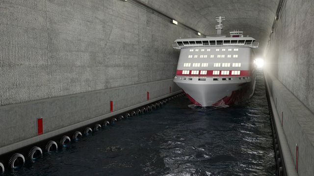 Nếu dự án được thông qua, người ta cần khoan núi đá để tạo ra đường hầm cho các loại tàu.