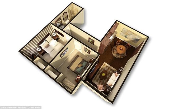 Tầng 2 gồm 4 căn hộ sang trọng.