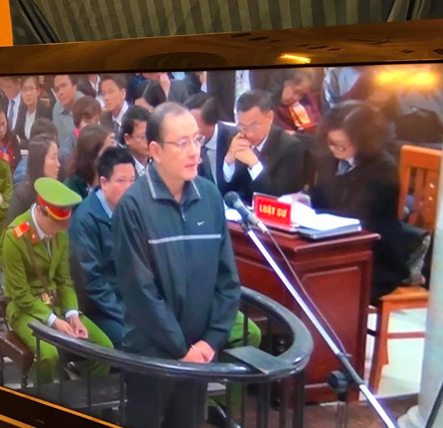 Bị cáo Nguyễn Văn Hoàn - nguyên Phó tổng giám đốc Oceanbank.