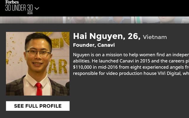 Nguyễn Hoàng Hải, 26 tuổi, nhà sáng lập của Canavi