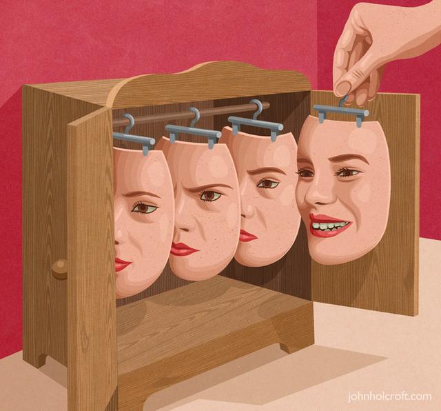 Con người ngày càng có nhiều mặt nạ. Họ sử dụng mặt nạ để sống qua ngày và dần quên mất con người thật của bản thân...