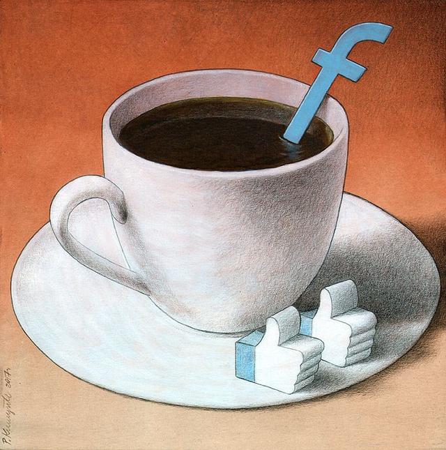 ' Facebook đang dần thay thế nhiều điều trong cuộc sống con người. Thay vì uống cà phê mỗi sáng, người ta lướt Facebook và đếm Like... '