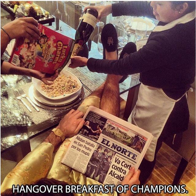 Đây chỉ là một phần của bữa sáng dành cho những nhà vô địch.