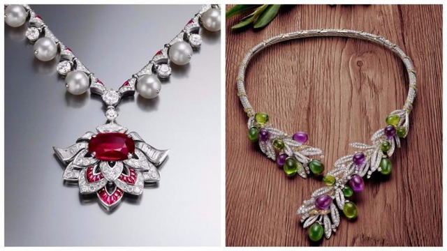 Dây chuyền và vòng tay lấy cảm hứng từ hoa, lá và các loại cây trong lễ hội truyền thống của Ý.