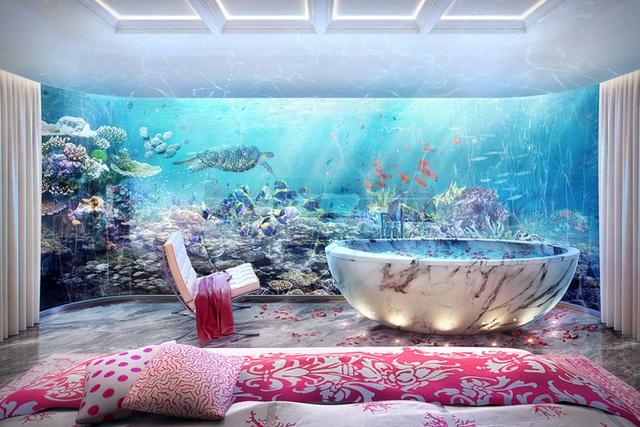 Căn biệt thự có tổng cộng 3 tầng, với 4 khu vực ngủ. Tất cả được bao quanh bởi đại dương mênh mông, không khác gì trong những giấc mơ cổ tích.