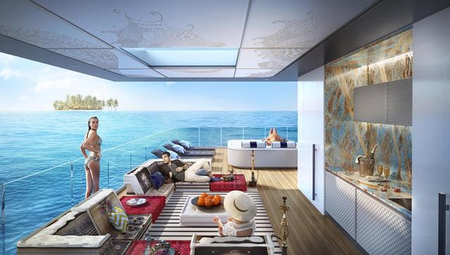 Dự án Floating Seahorse thuộc Quần đảo Thế giới nằm ở ngoài khơi Dubai khoảng 4km. Từ tầng thượng của căn biệt thự, bạn vẫn có thể ngắm nhìn được quang cảnh thành phố Dubai tráng lệ, đặc biệt hấp dẫn khi đêm về. Theo các kiến trúc sư của dự án, toàn bộ những căn nhà này sẽ tạo nên một bản đồ thế giới thu nhỏ giữa biển khơi.